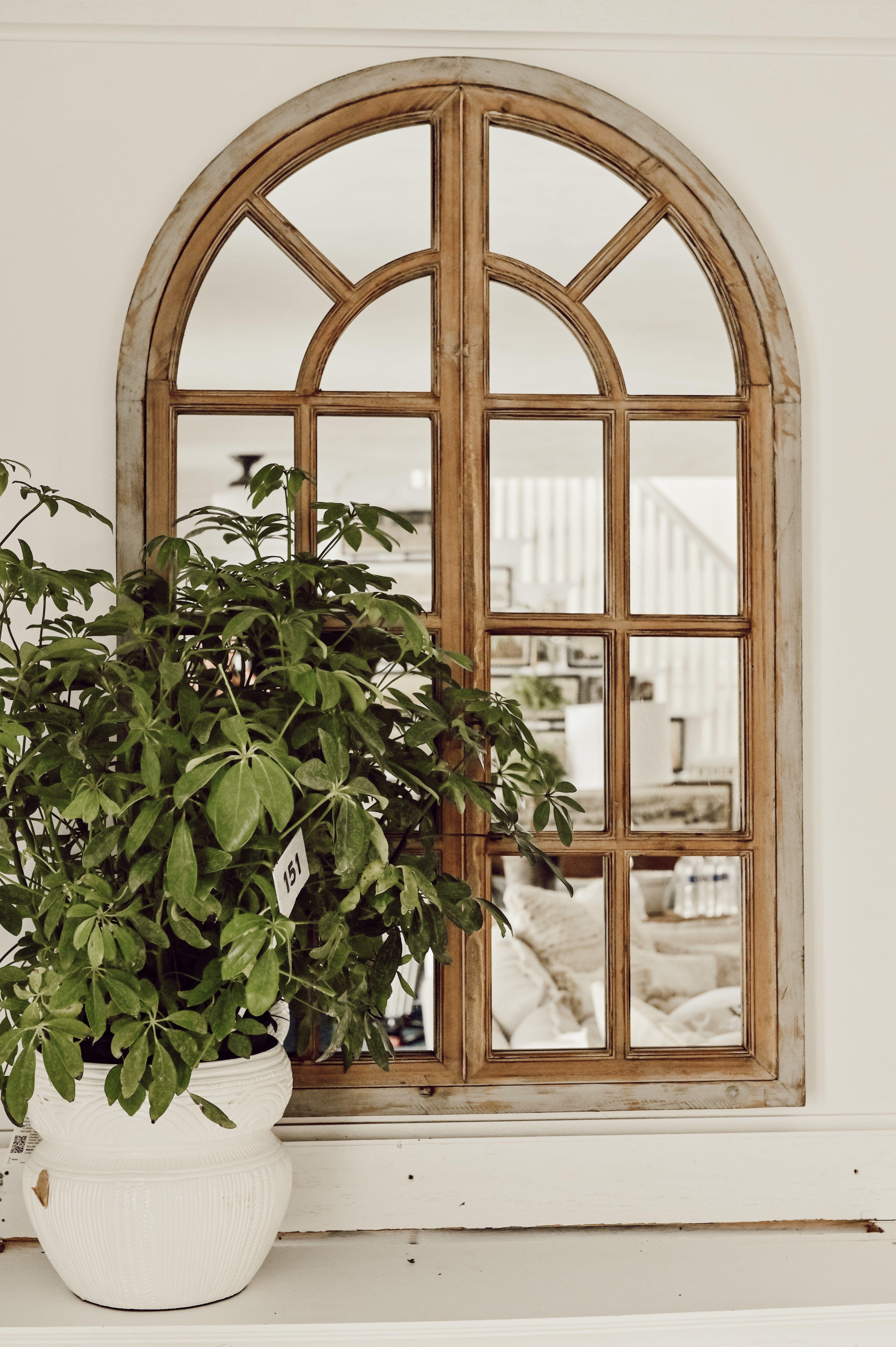 Rustic Farmhouse Arched Window mirror Arched window