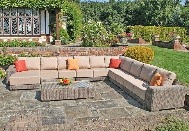 Kingston Modular Sofa Set With Waterproof Cushions   Set R