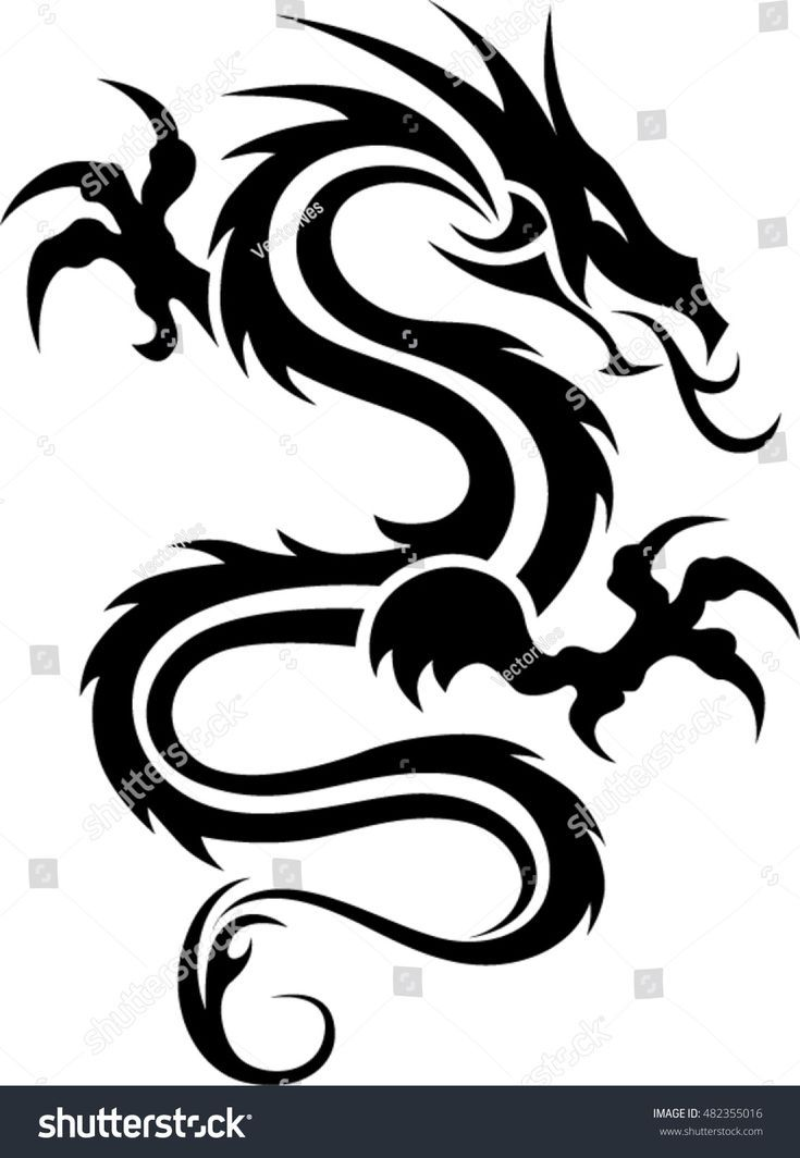 Photo of Drachentattoo / Tribal Dragon / Schwarz-Weiß-Drachentattoo, #Black #Dragon #Tattoo #Triba …