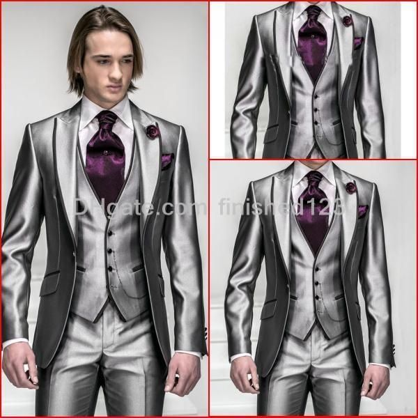 Fine Silver Grey Wedding Outfits Groom Frieze - Wedding Ideas ...
