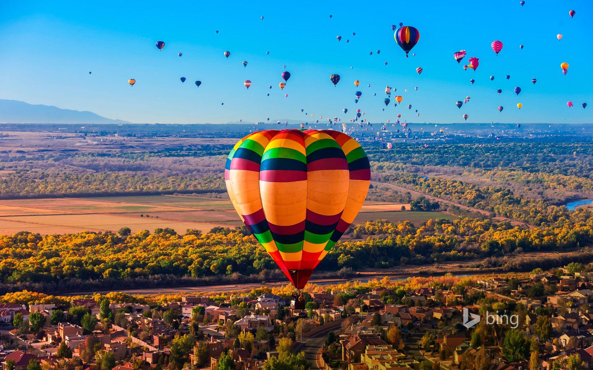 The Albuquerque International Balloon Fiesta is the world