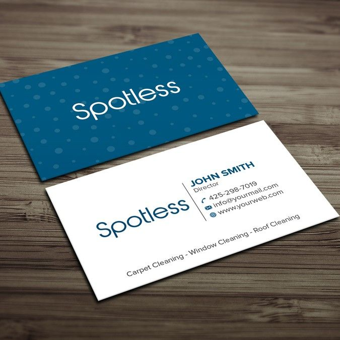 Spotless By King Team Cleaning Business Cards Cool Business Cards Free Business Card Templates