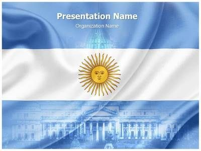 Argentina Flag Powerpoint Template Is One Of The Best Powerpoint