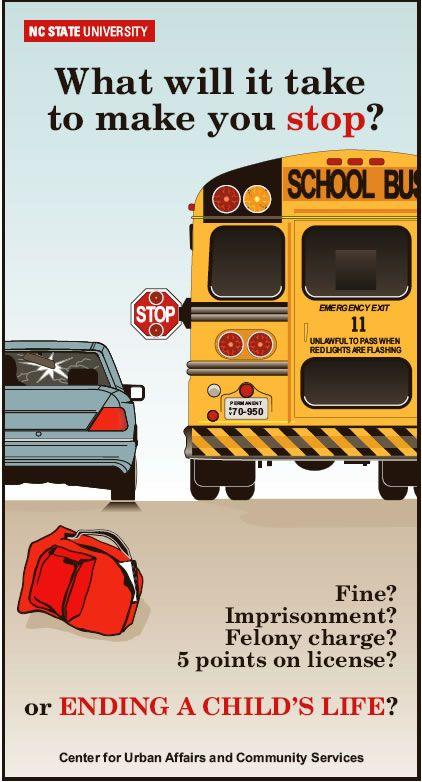 Nc School Bus Safety Web School Bus Safety Bus Safety School Bus