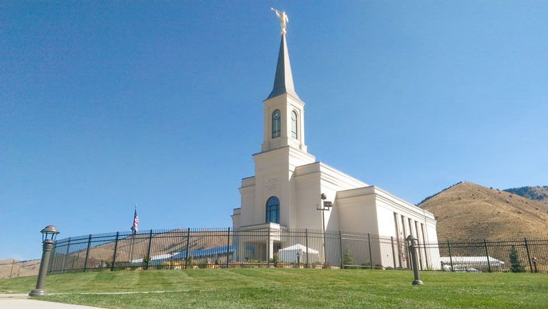 Look Inside An Up Close Glimpse Inside Wyoming S First Lds Temple With Images Star Valley Temple Lds Temples Star Valley Wyoming