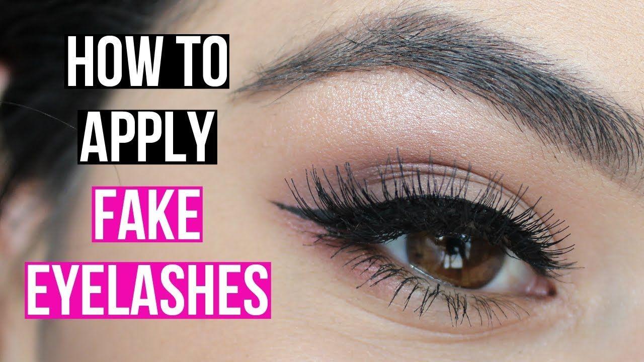 HOW TO PUT ON FAKE EYELASHES in 2020   Fake eyelashes ...