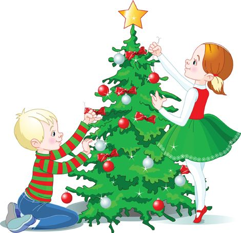 Clipart Image Of Children Decorating A Christmas Tree Christmas Tree Images Christmas Tree Christmas Tree Clipart
