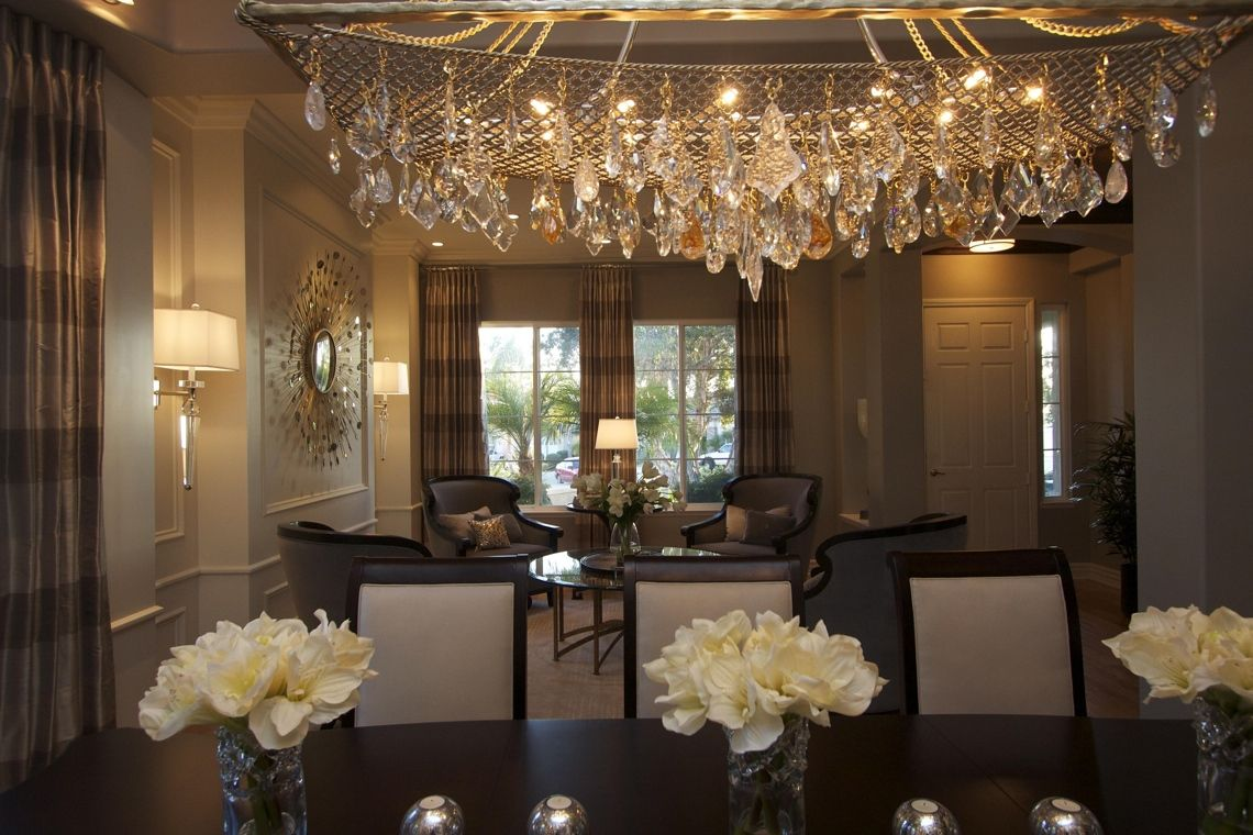 Chandeliers For Dining Room Contemporary Mesmerizing Glamourousmodernhomediningroomrobesondesign  Home Stuff Design Decoration