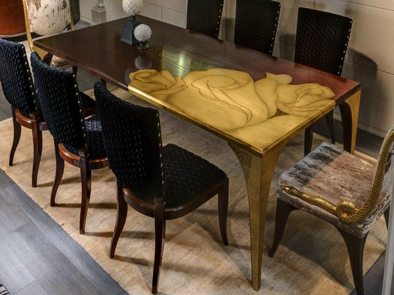 Amazing Rectangular living room table SECRET ROSE Bizzotto Elegant - Latest dining room seating Modern