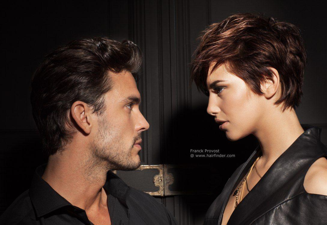 Мужчина и женщина картинка с прическами