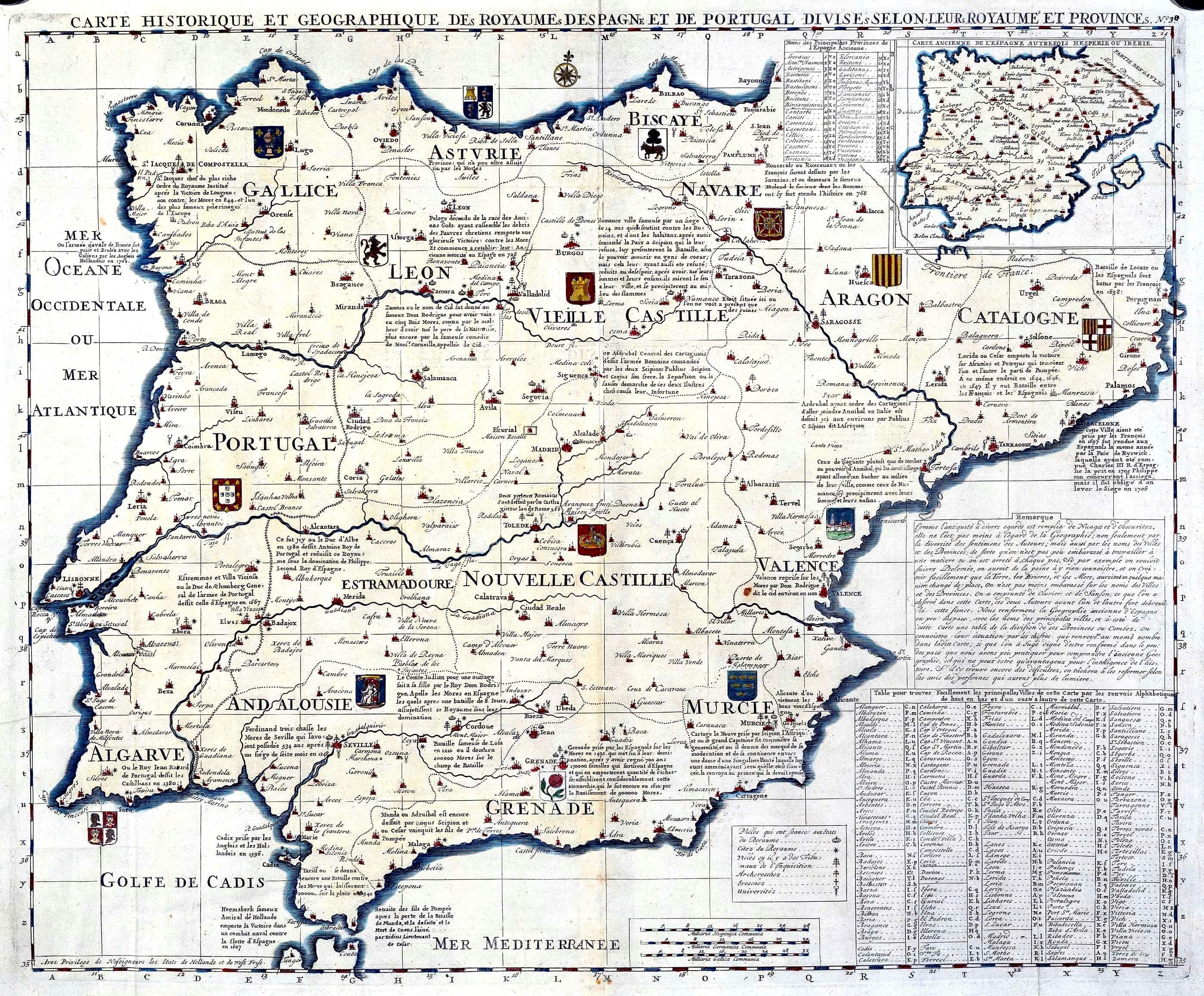 Mapa Histórico Y Geográfico De Los Reinos De España Y Portugal En - Portugal map history