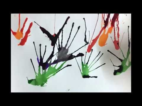 Blow Painting With Straws Fun Art Techniques For Kids