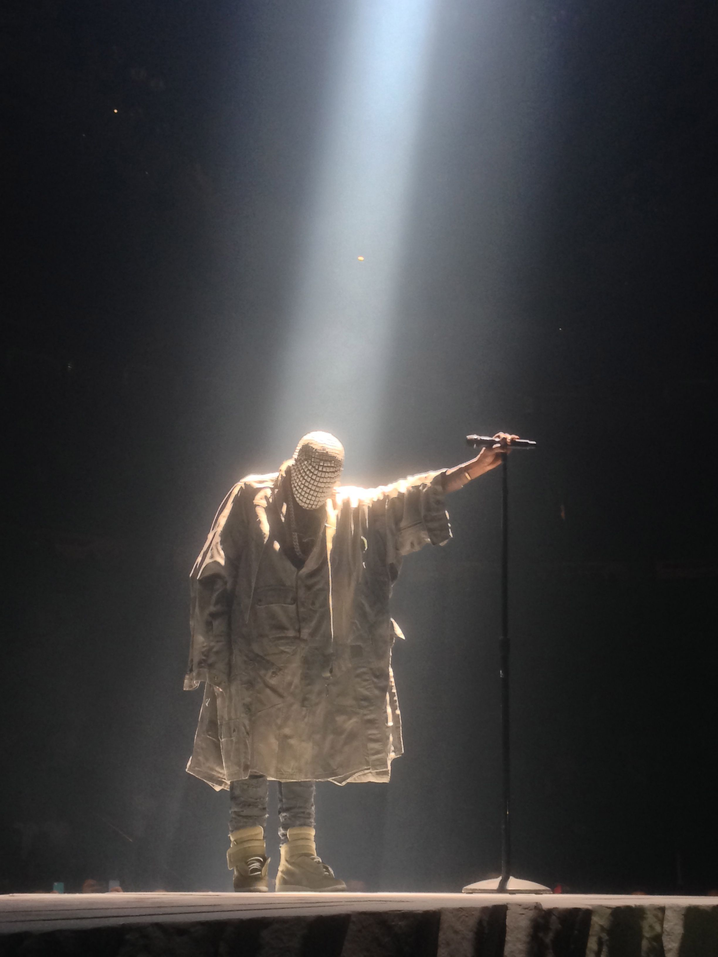 Kanye West Wears Custom Maison Martin Margiela For Yeezus Tour 1 Yeezus Tour Yeezus Kanye West Yeezus
