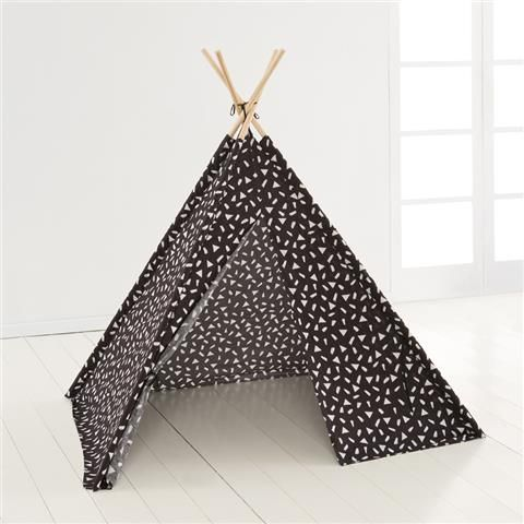 Image For Printed Tee Pee Play Tent Black Amp White From