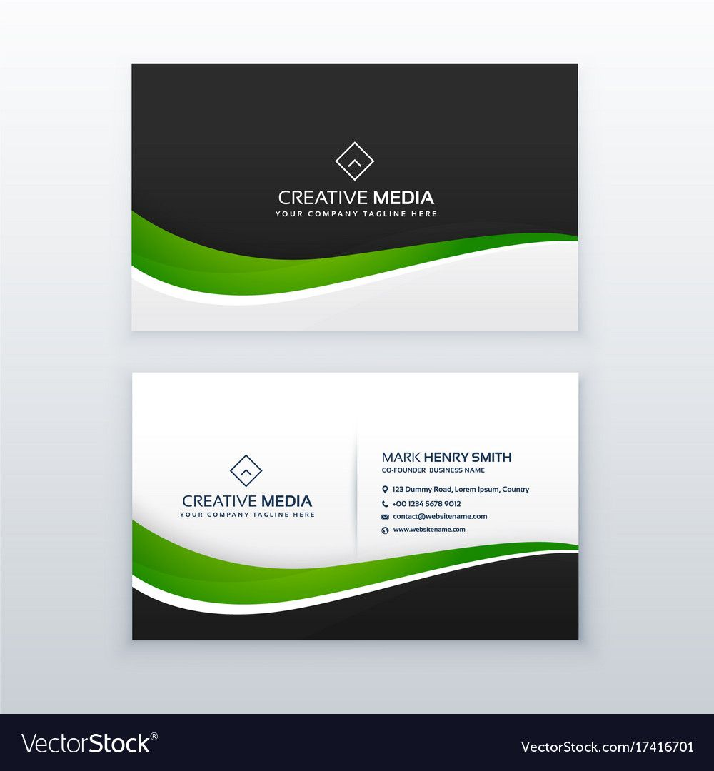 Green Business Card Professional Design Template With Designer Visiti Professional Business Cards Visiting Card Templates Professional Business Cards Templates
