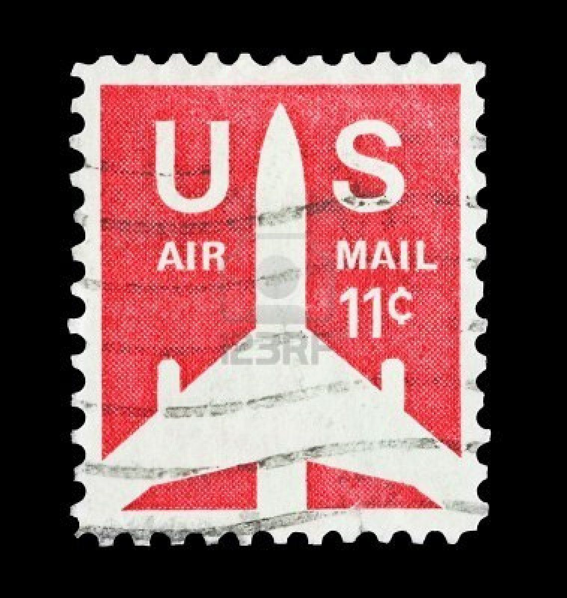 USA featuring aircraft silouette US airmail