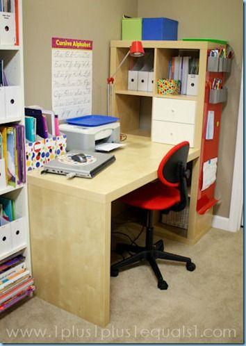 Lovely Over Desk Storage Shelves
