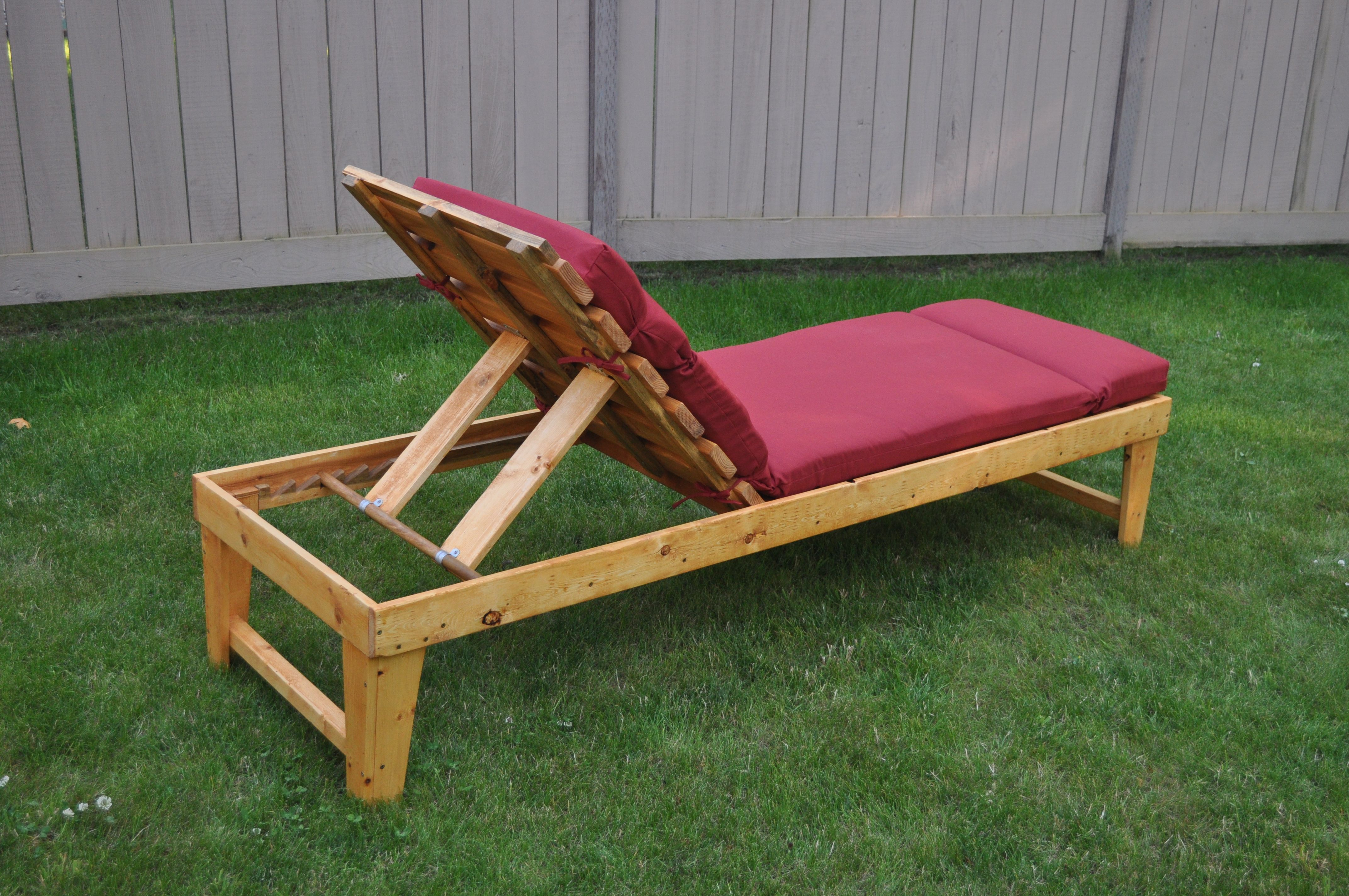 Our Homemade Chaise Lounge Furniture Projects Wooden House Furniture