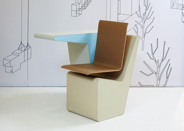 schreibtisch designermobel, designer möbel – komposition aus schreibtisch, drehstuhl und regal, Design ideen