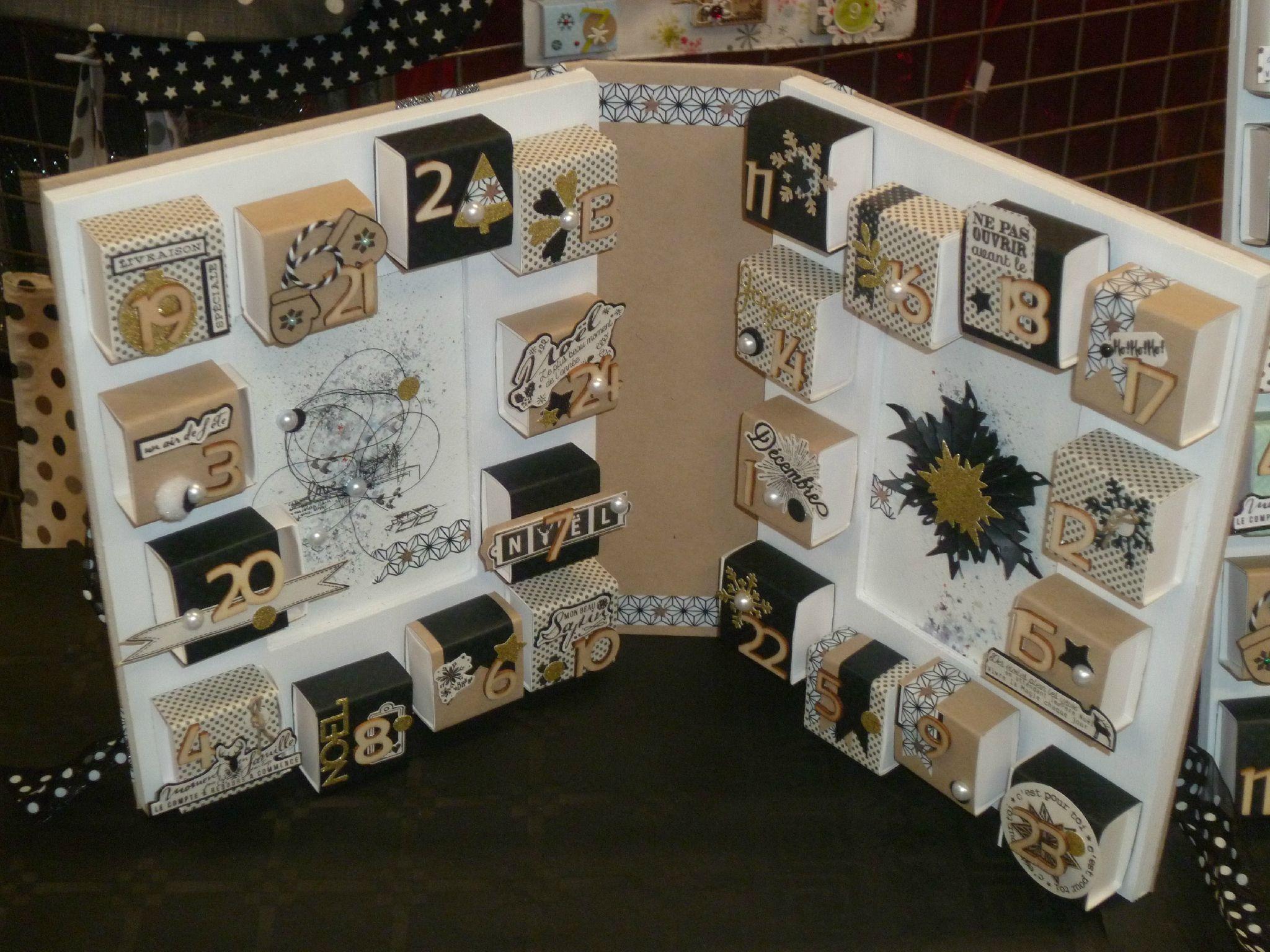 calendrier de l 39 avent boxes pinterest g vor papperspyssel och g r det sj lv. Black Bedroom Furniture Sets. Home Design Ideas