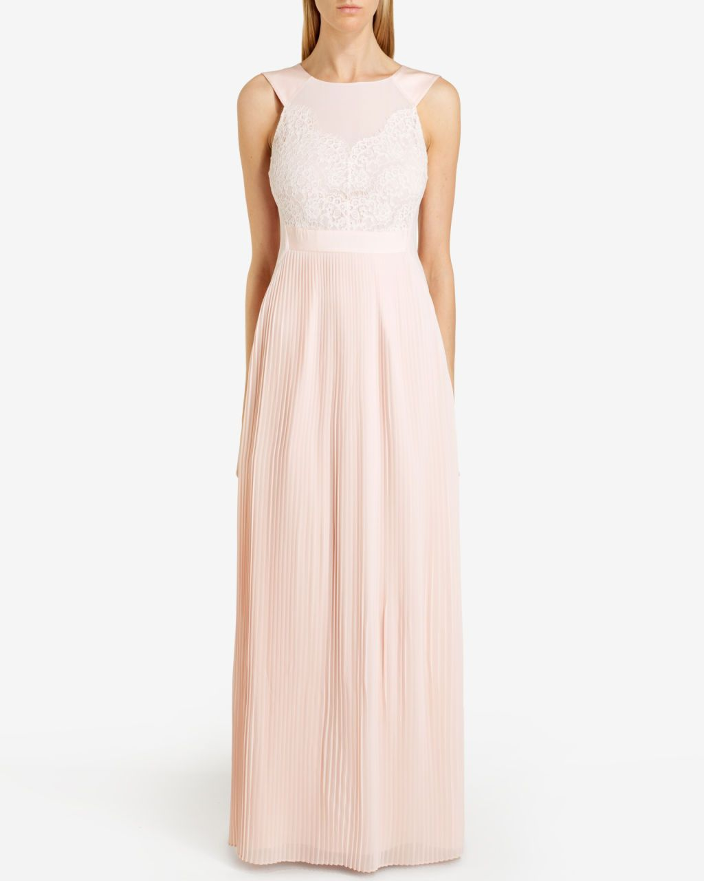 Reversible pleated maxi dress nude pink outlet ted baker uk reversible pleated maxi dress nude pink outlet ted baker uk ombrellifo Image collections
