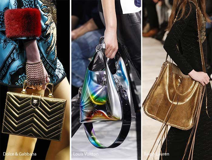 Fall Winter 2017 Handbag Trends Metallic Bags Luxuryhandbags