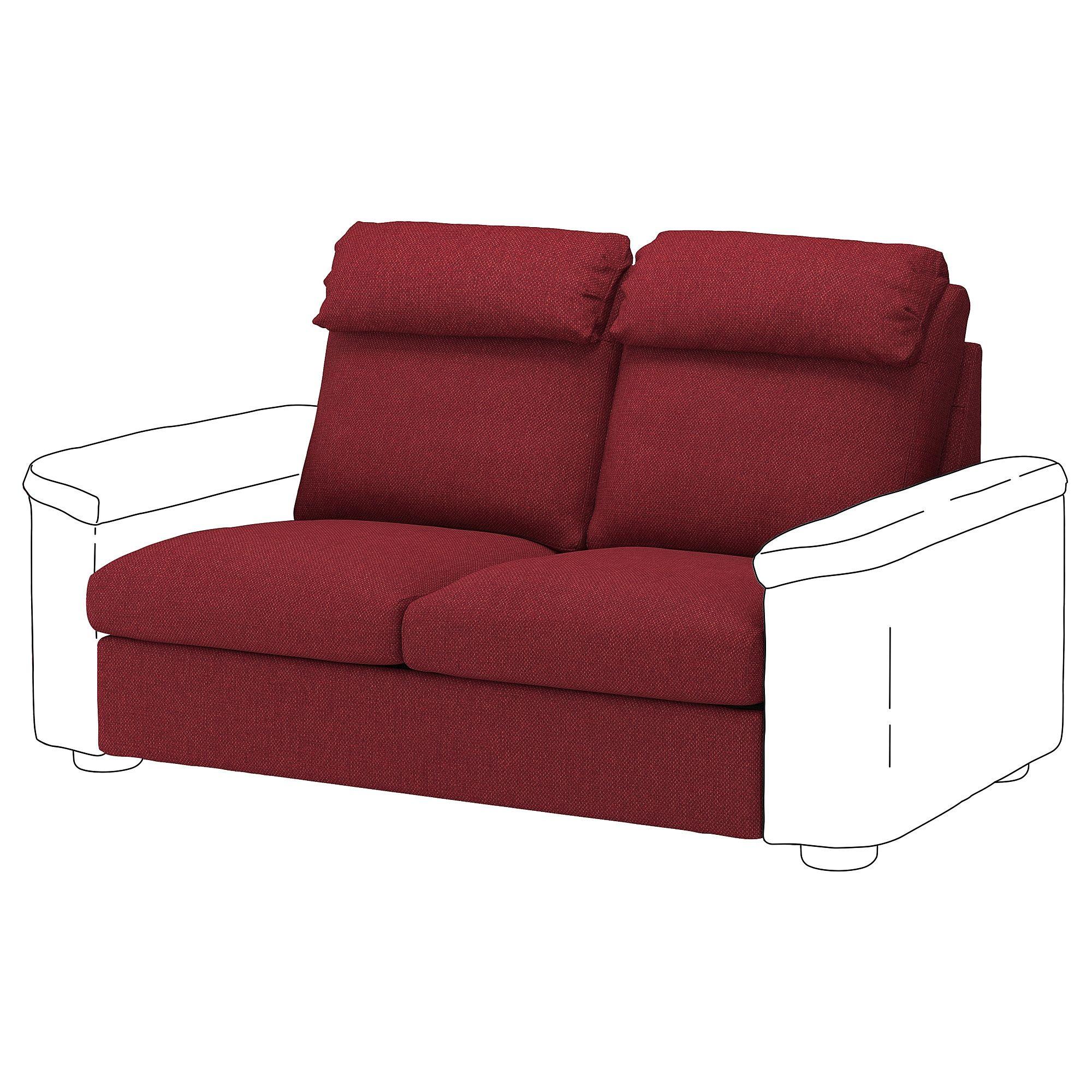 Ikea Lidhult Loveseat Sleeper Section Lejde Red Brown In