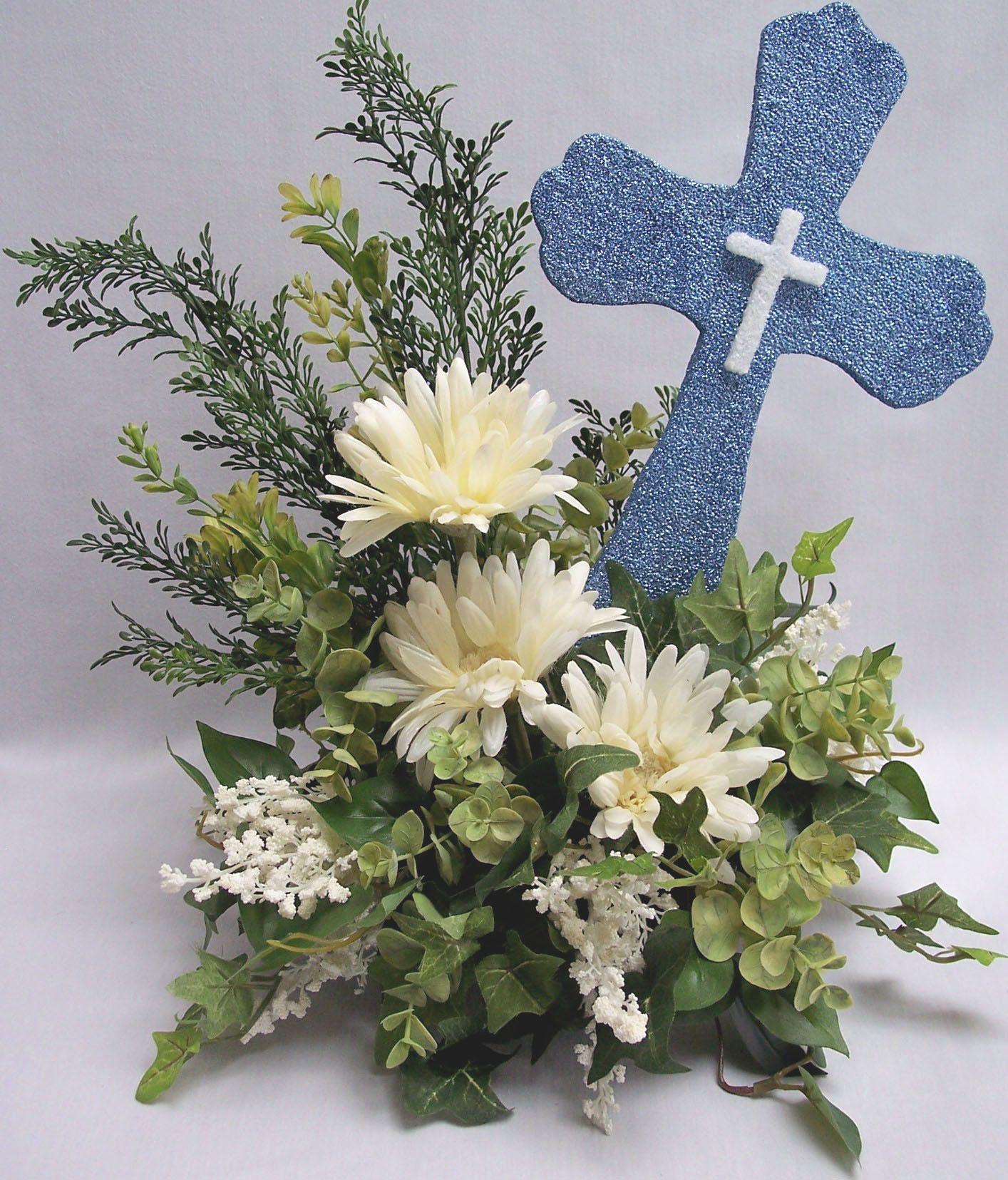 First communion floral centerpieces st