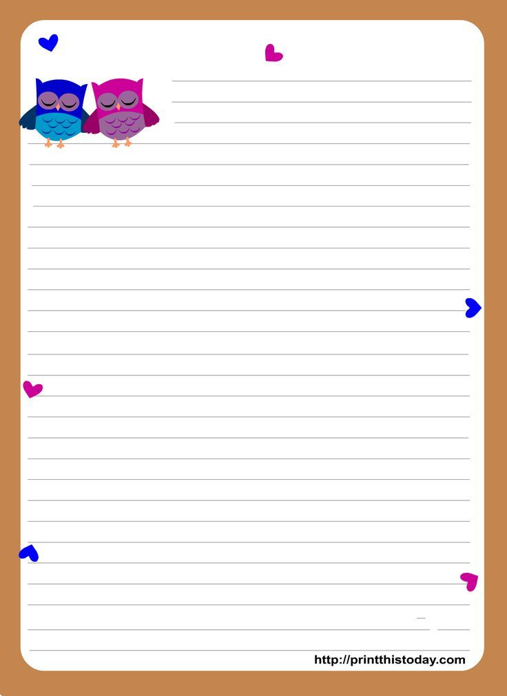 Free Printable Stationary  Printable Lined Writing Paper