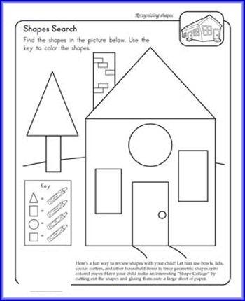 shape search worksheet teaching shapes worksheets kindergarten math preschool lessons. Black Bedroom Furniture Sets. Home Design Ideas