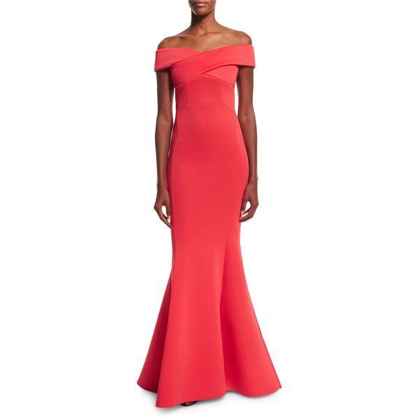 e1e71614e321 Rachel Gilbert Enico Off-the-Shoulder Knit Mermaid Gown (£1