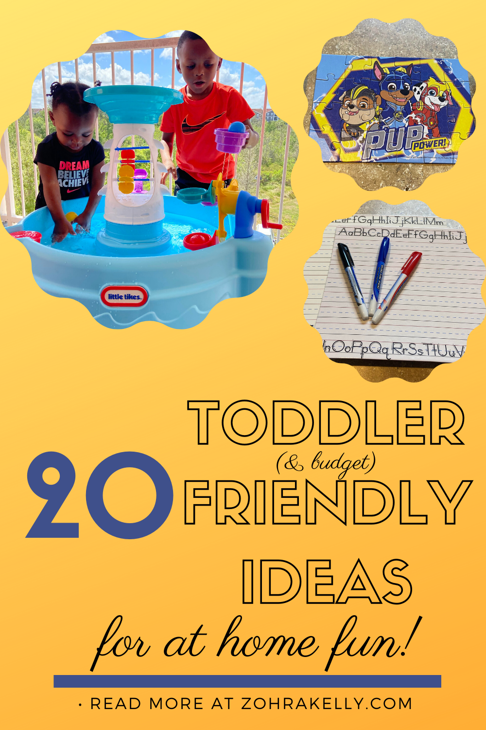 20 Toddler Friendly At Home Activities!