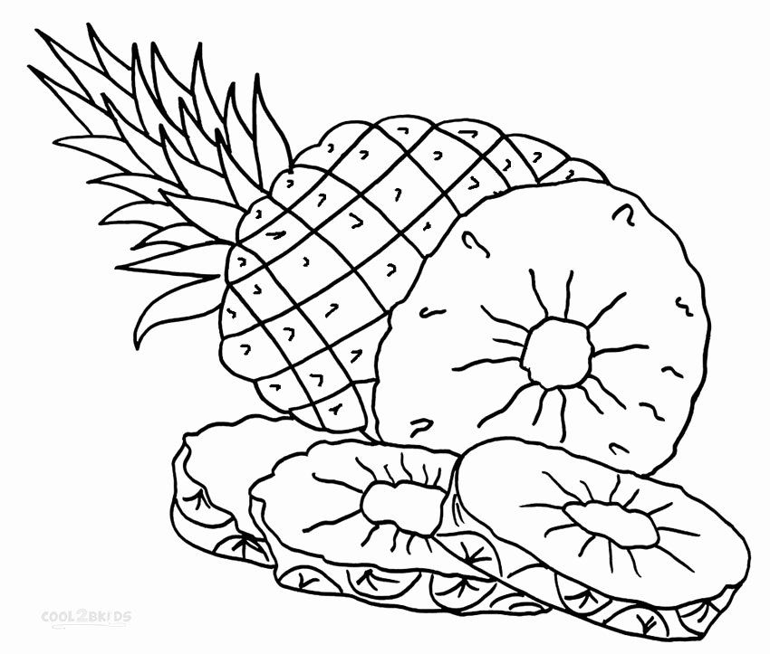 Cute Pineapple Coloring Page Lovely Pineapple Coloring Pages To