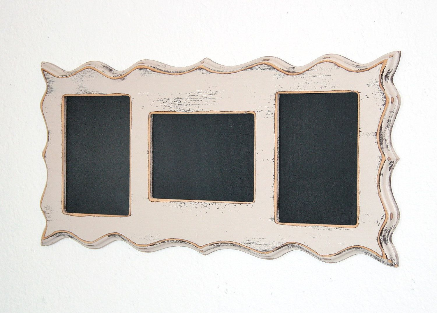 Collage Whimsical Picture frame multi opening 3) 4x6 or 5x7 openings ...