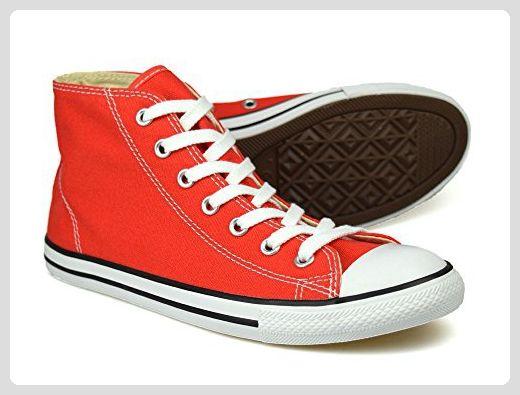 Converse All Star Dainty Rot Mid Chucks Schuhe Carinval Rot Dainty Gr 35,5 UK 3 ... 39b4f5