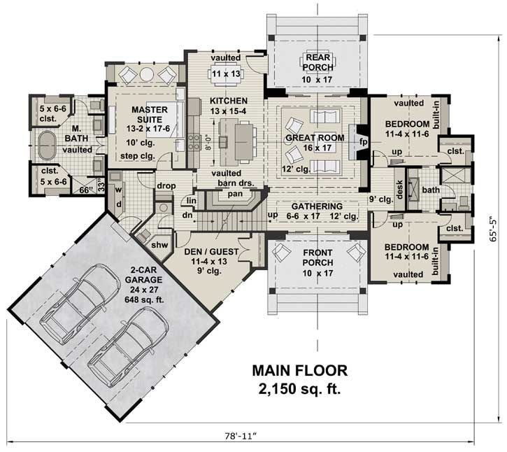 Top 10 fav house plans No formal dining room has guest room can t