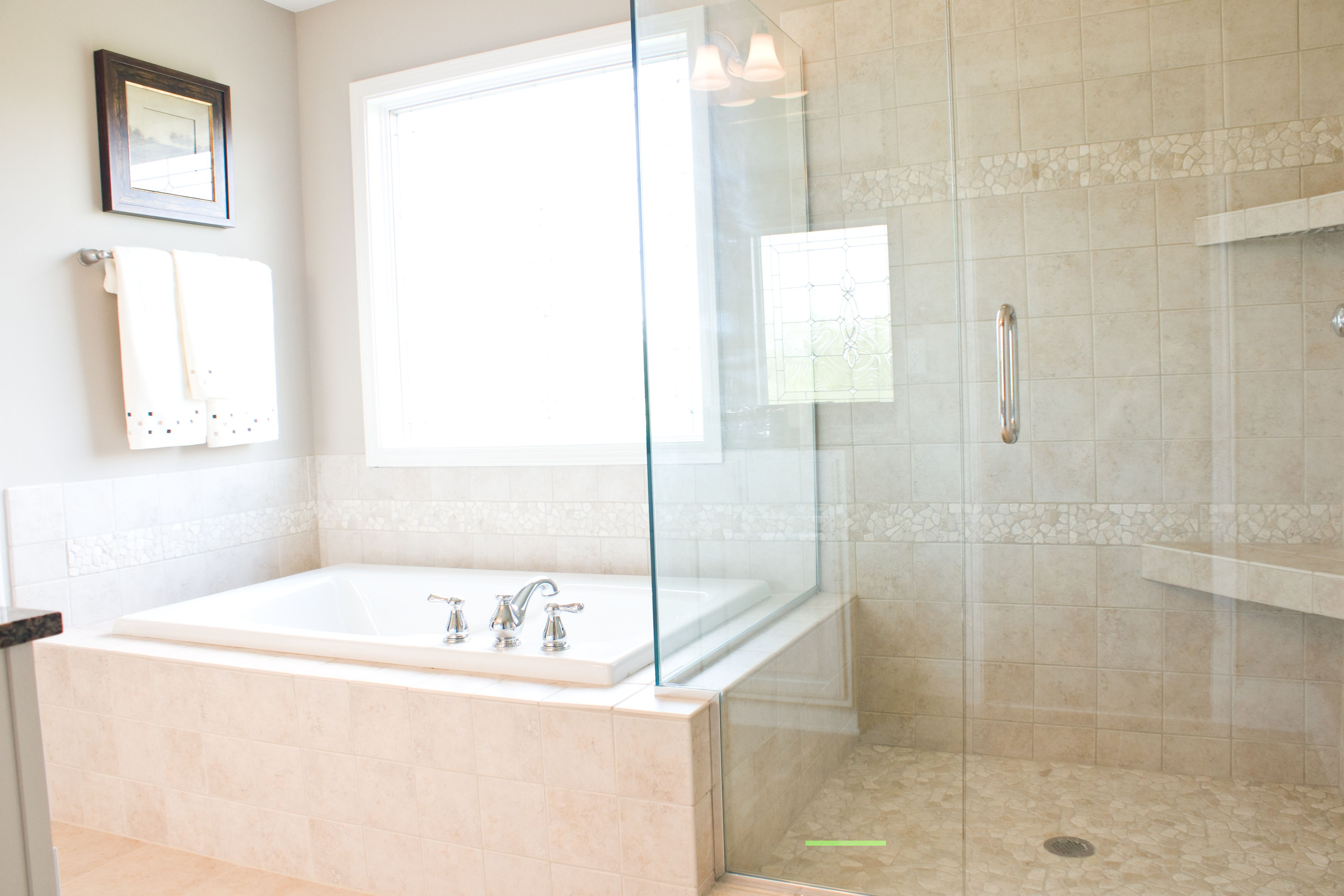 The master bathroom of the cavanaugh ii floor plan by ball homes