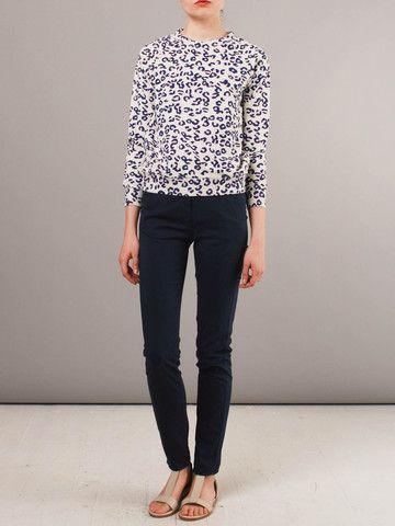 APC leopard print sweatshirt