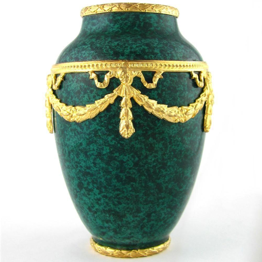 French paul milet for sevres porcelain cabinet vase malachite rare antique french sevres ceramic cabinet vase by paul jean milet son of felix optatus milet optat milet began his career as a modeler for svres reviewsmspy