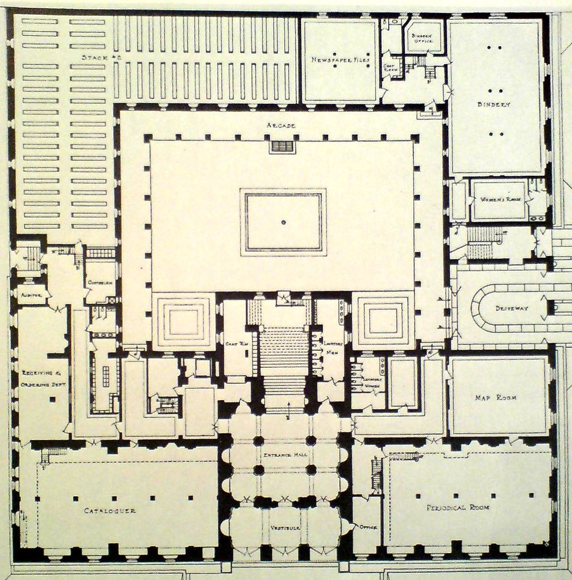 boston public library map First Floor Library Floor Plan Floor Plans Library Plan boston public library map
