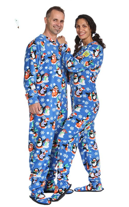 c4e14ac2f Glow in the Dark adult footie pyjamas. Penguin Fun GLOW Adult Footed Pajama