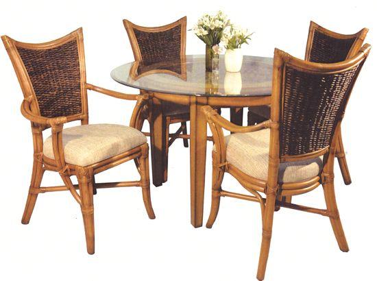 Beachwood Rattan Antique Dining Suite from Summit Design