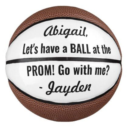 Prom or HOCO Proposal Cute Funny Promposal Idea Basketball | Zazzle.com