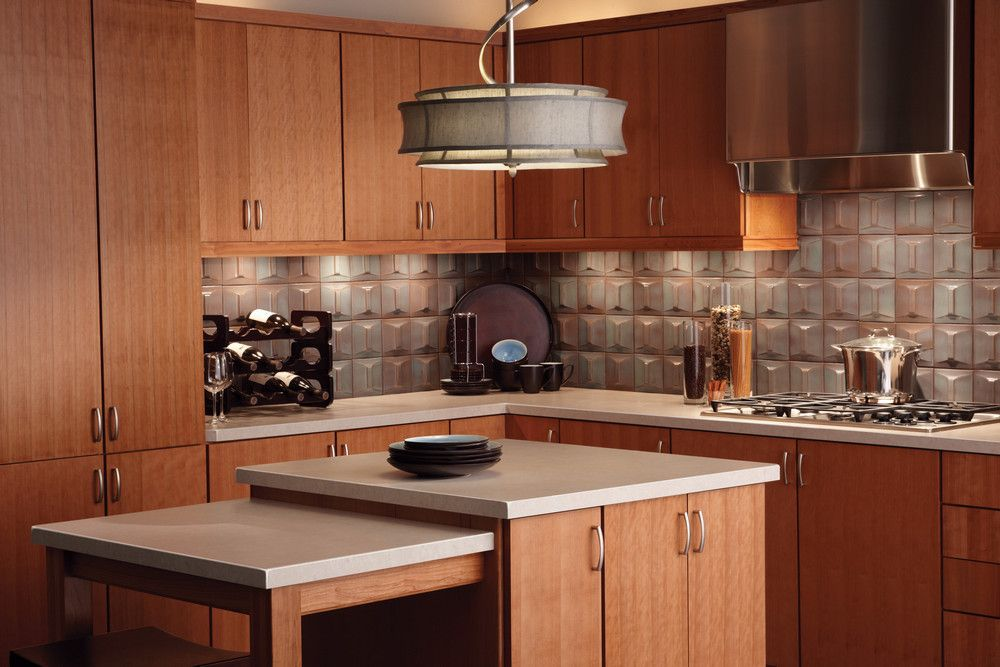 quartersawn cherry cabinetry in a natural finish delivers a warm