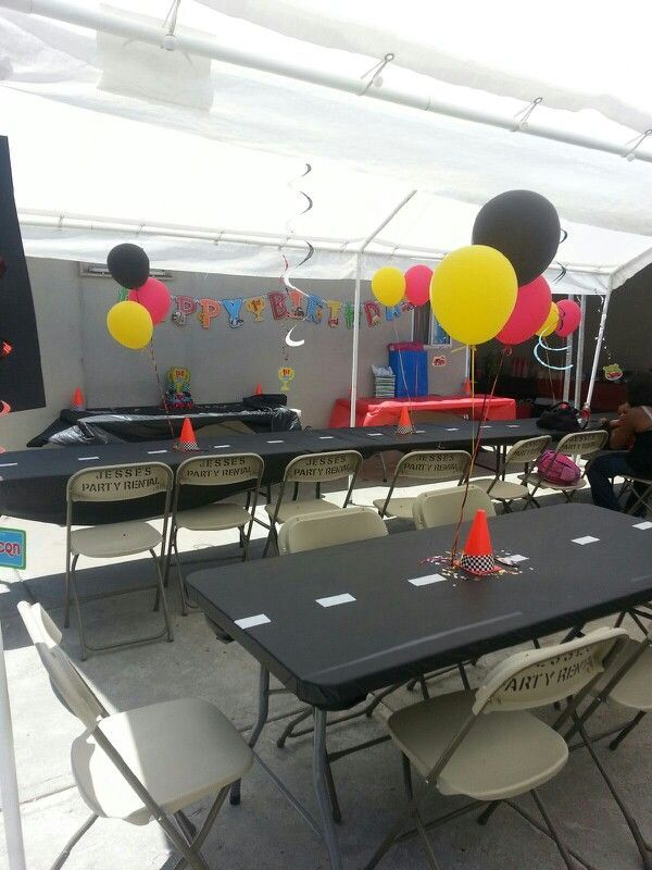 Decorations I did for Juliens 1st bday cars themed party The