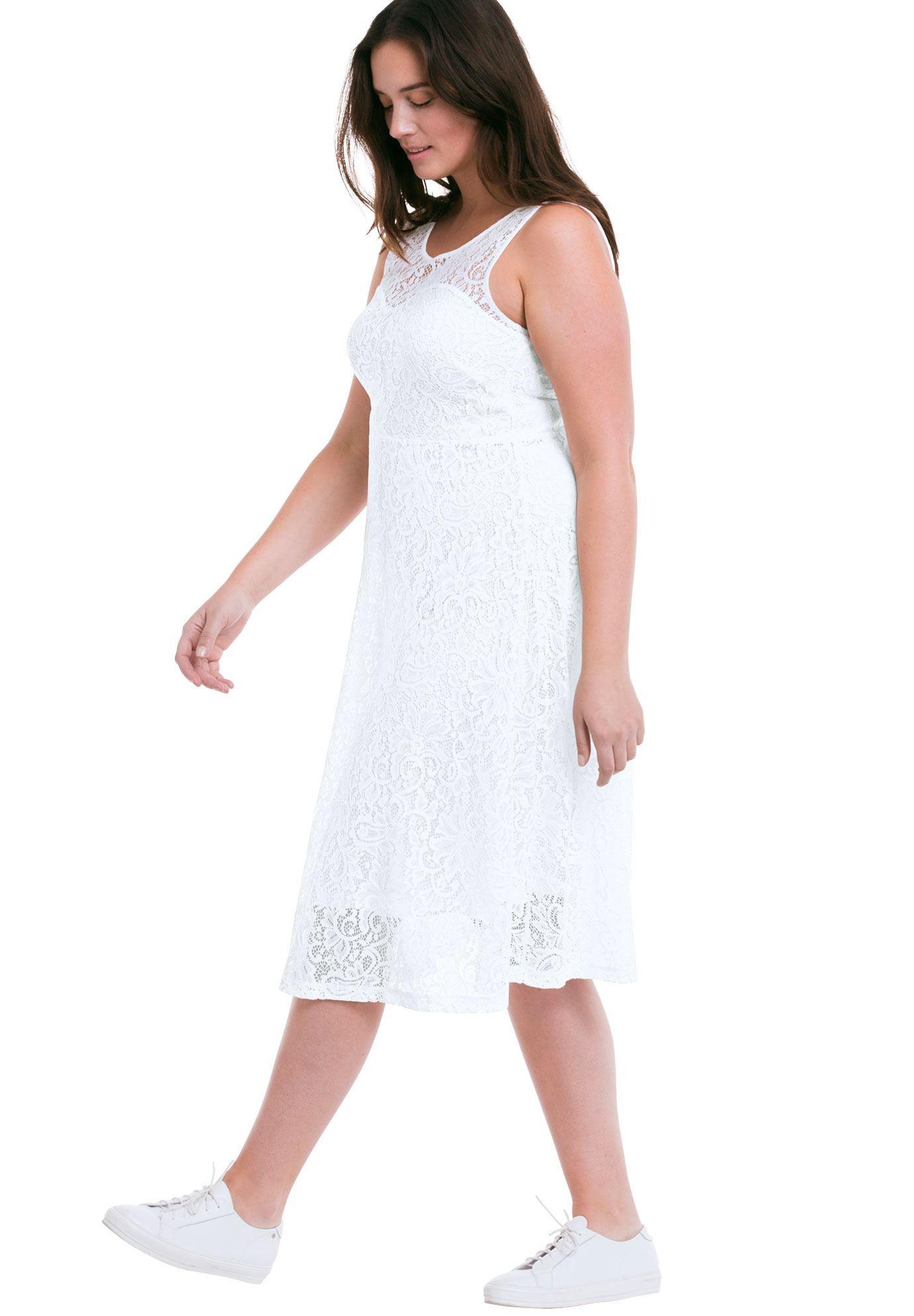 Sleeveless Stretch Lace Dress by Ellos&reg Women s Plus Size