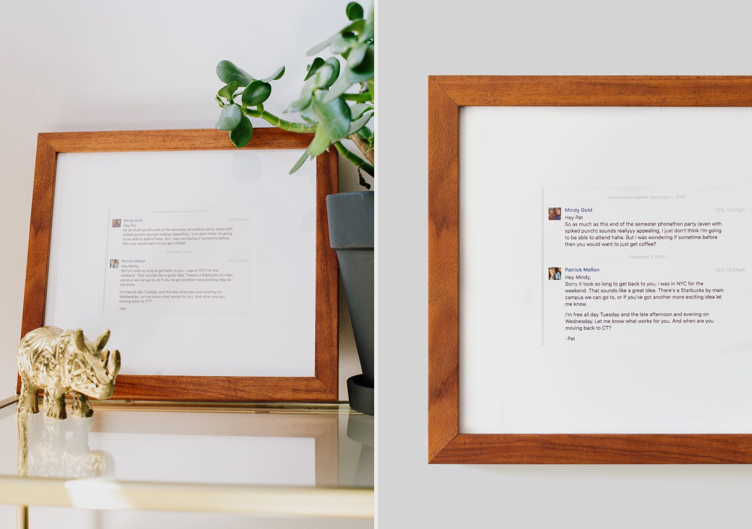 Celebrate your relationship milestone by custom framing that first ...