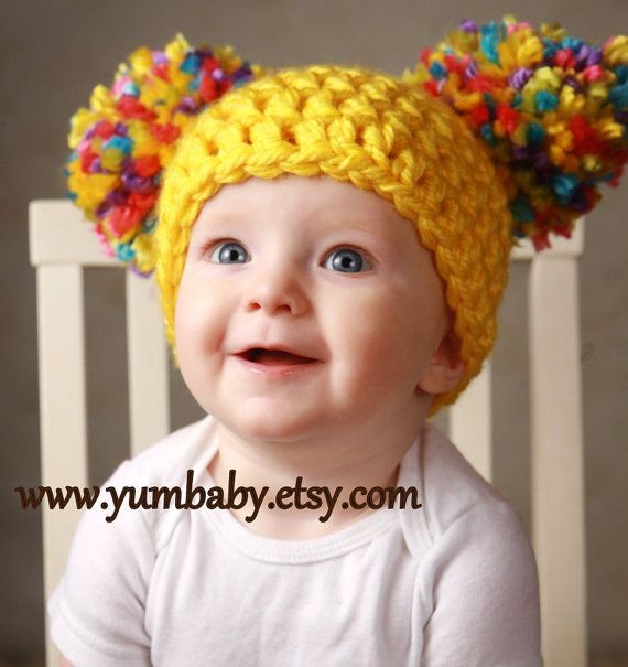 Photo of Items similar to Brown Cabbage Patch Hat Winter Beanie Christmas Photo Prop Baby Girls Fashion Hair Wig Baby Costume Winter Fashion Gift Ideas on Etsy