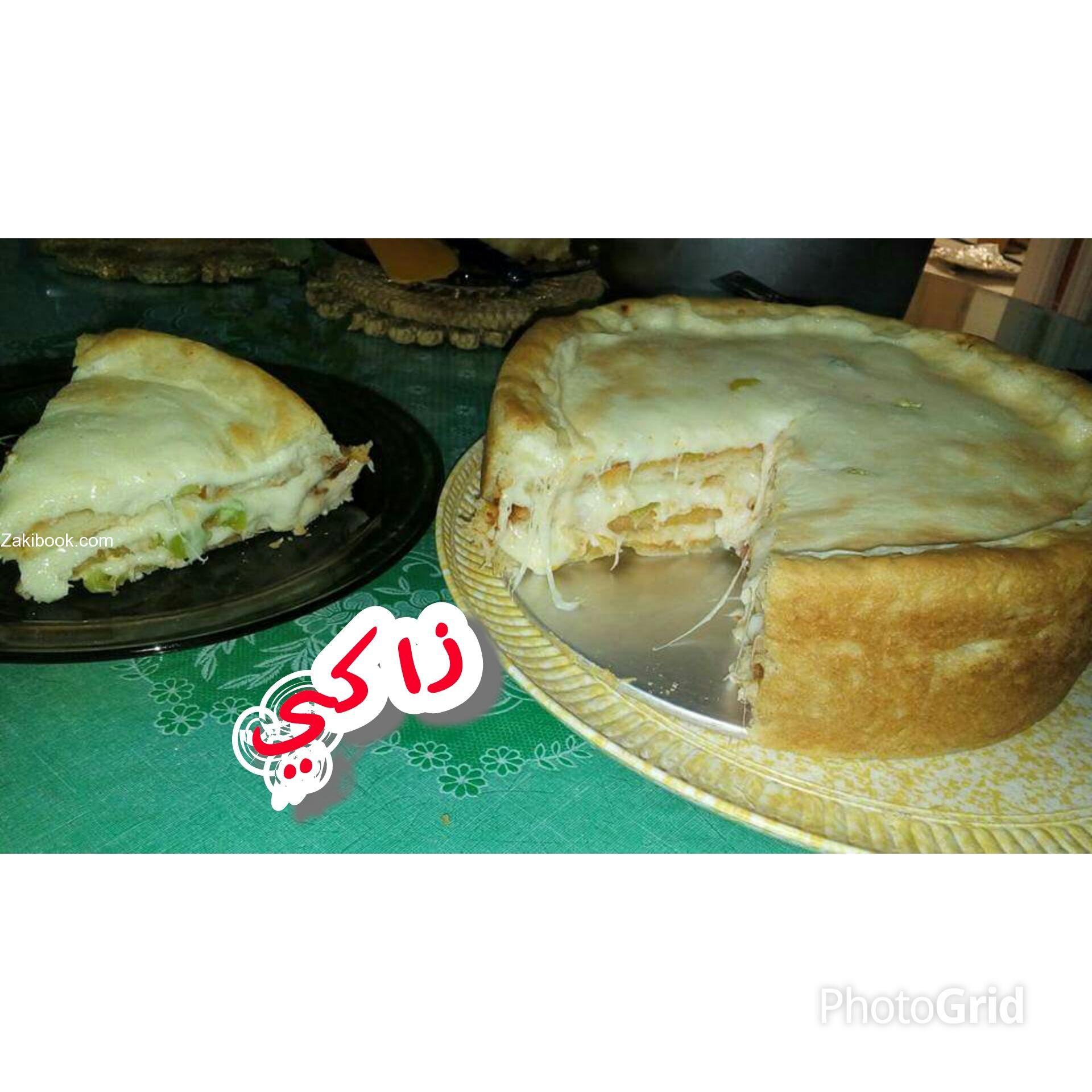 كيكة البيتزا Pizza Cake زاكي Pizza Cake Food Main Dishes