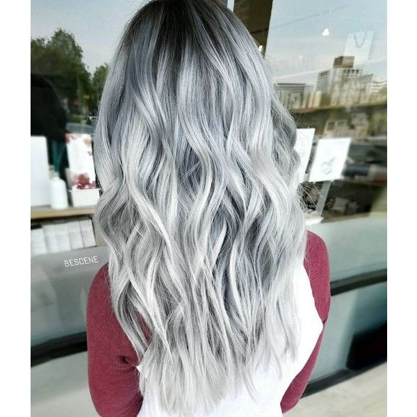 Silver Hair Extensions Liked On Polyvore Featuring Beauty